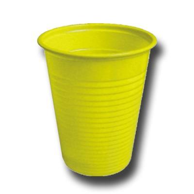 10 Plastikbecher gelb für Ihr Partygeschirr
