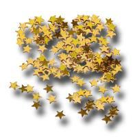 Konfetti aus glänzender Goldfolie im Stern Design