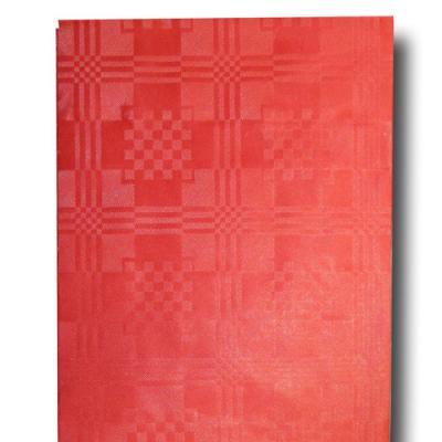1 rotes Papiertischtuch für den Partytisch