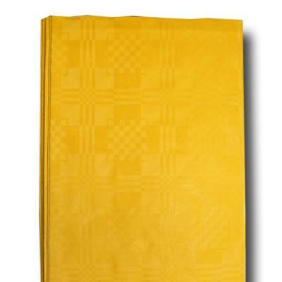 1 Papier Tischdecke gelb mit Damastprägung