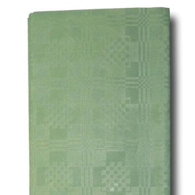 1 grüne Papier Tischdecke mit Damastprägung