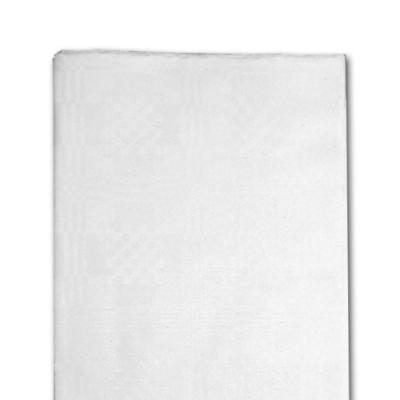 1 weiße Tischdecke aus Papier mit Damastprägung
