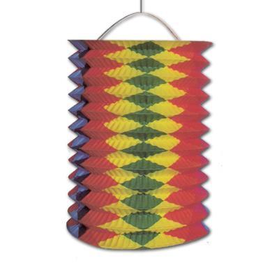 Farbenfrohe Zuglaterne bunt für die passende Faschingsdeko, Geburtstagsdeko, Silvesterdeko oder den Kindergeburtstag