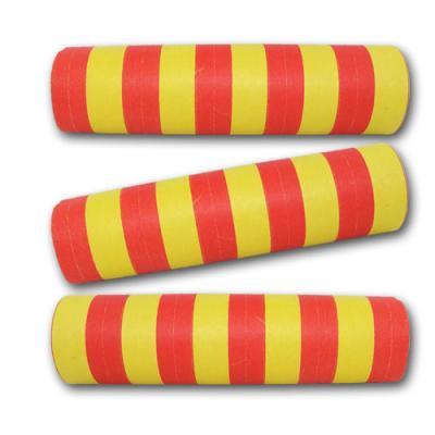 Rot-Gelbe Qualitäts-Luftschlangen aus schwer entflammbarem Papier.