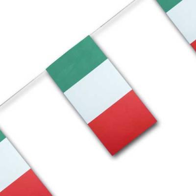 Fahnenkette mit Italien Fähnchen aus Papier