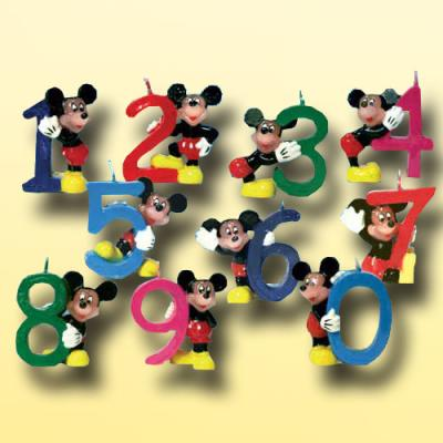 """Zahlenkerze 0 """"Mickey Mouse"""""""