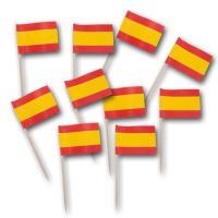 50 Fahnenpicker (Zahnstocher mit Spanien Flagge) am...