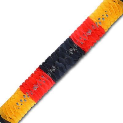 Minigirlande schwarz-rot-orange im Design der Deutschland Flagge.