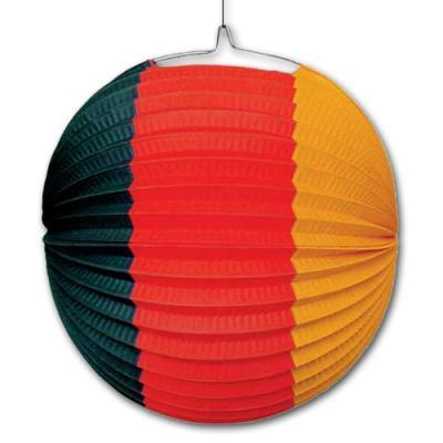 1 Partydeko Lampion in den Farben der Deutschland Flagge schwarz-rot-gold(gelborange).