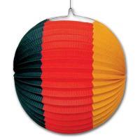 1 Partydeko Lampion in den Farben der Deutschland Flagge...