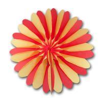 Rosette (Dekofächer) rot-gelb 32 cm