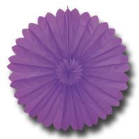 Partydeko Rosette lila aus schwer entflammbarem Papier...