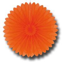 Orange Partydeko Rosette aus schwer entflammbarem Papier...