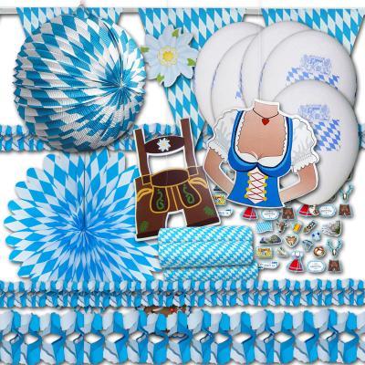 Oktoberfest Deko Set Grundausstattung von ordeno.eu - Deko wie die Feste fallen!
