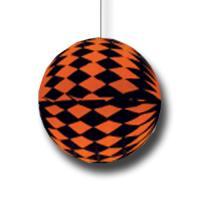 Partydeko Wabenball orange-schwarz