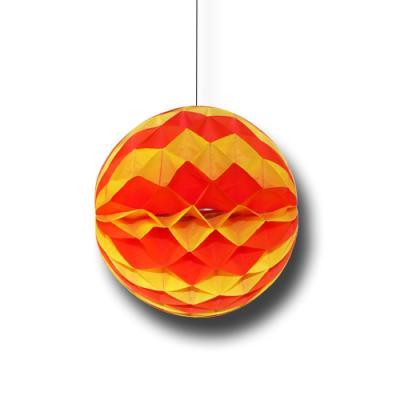 Partydeko Wabenball rot-gelb für Spanien Länderdeko