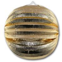 Goldener Lampion aus schwer entflammbarem Glanzpapier,...