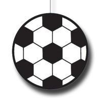 Dekohänger Fußball in schwarz-weiß