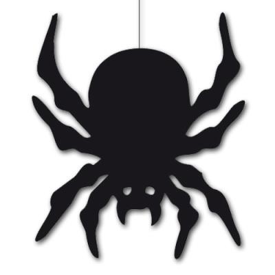 Dekohänger Spinne schwarz für eine gruselige Halloweendeko