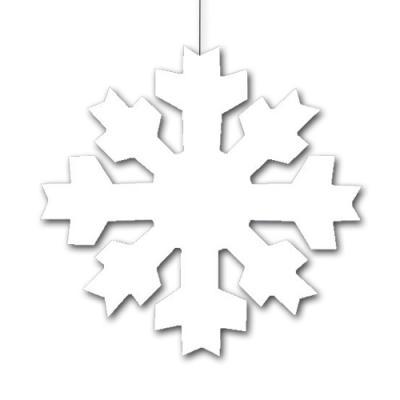 1 weißer Dekohänger in Schneeflockenform