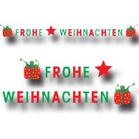 1 originelle Buchstabengirlande mit FROHE WEIHNACHTEN...