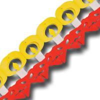 1 rot-weiß-gelbe Girlande mit Kerzen Motiven für eine...