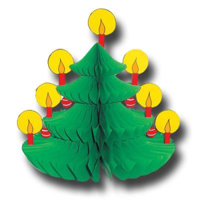 Kleine Wabenfigur im Weihnachtsbaum Design für die originelle, weihnachtliche Tischdekoration.