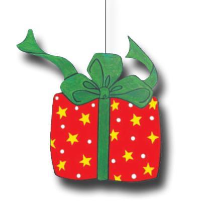 Rot-grüner Dekohänger Weihnachtsgeschenk für die weihnachtliche Partydekoration. Material: Karton schwer entflammbar