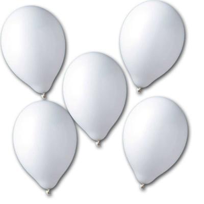 100 Stück weiße Luftballons.