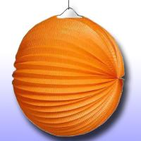1 Lampion orange aus schwer entflammbarem Papier, Karton...