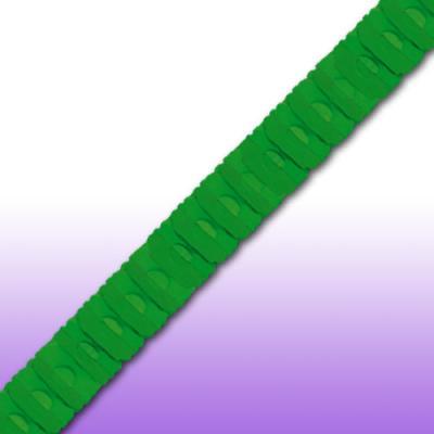3 Meter lange Papiergirlande grün.