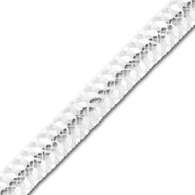 Weiße Partydeko Girlande aus Seidenpapier