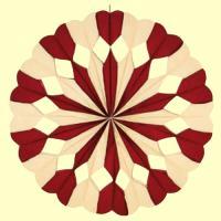 bordeaux-elfenbein Riesenrosette mit Herzen