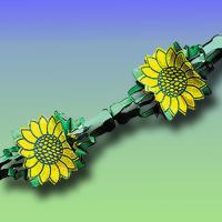 """""""Sonnenblumen"""" Girlande"""
