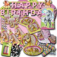Kindergeburtstag Partyset mit Partymotto Pferde inklusive...