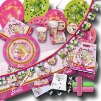 Umfangreiches Barbie Pferdeglück Partyset mit Partydeko...