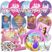 Kindergeburtstag Prinzessin Partyset XXL mit...
