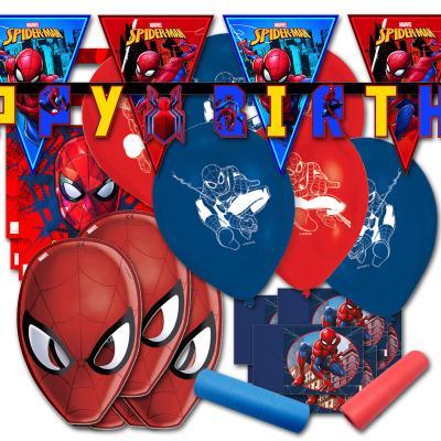 Originelles Spiderman Kindergeburtstag Dekoset