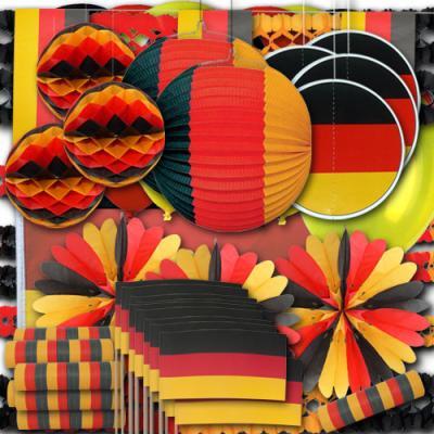 Sehr umfangreiches Dekoset XXL in den Farben der Deutschland Flagge.