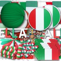 Großes Partyset mit Italien Partydekoration