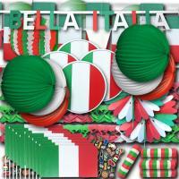 Riesiges Italien Partydekoset in den Farben der Italien...