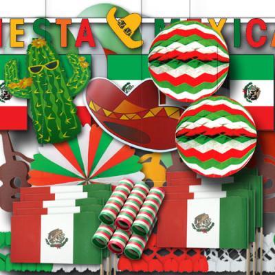 """Mexiko"" Partydekoset groß"