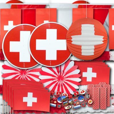 Partydeko Set Schweiz groß
