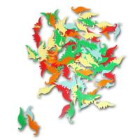 Bunte Dekokonfetti mit Dinosaurier Motiven