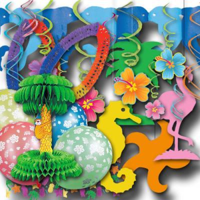 Partyset Karibik für Mottoparty Meer