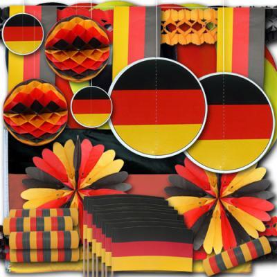 Deutschland Partydekoset groß in den Farben der deutschen Landesflagge.