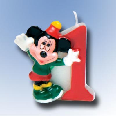 """Zahlenkerze 1 """"Mickey Mouse"""""""