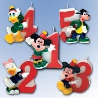 """Zahlenkerze 4 """"Mickey Mouse"""""""