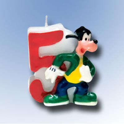 """Zahlenkerze 5 """"Mickey Mouse"""""""