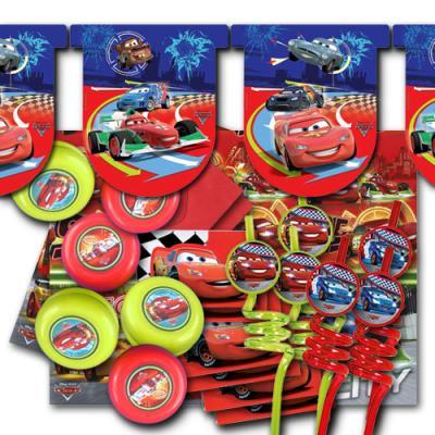 Kindergeburtstag Deko-Ergänzungsset mit diversen Partyartikel passend zum Partymotto Cars.